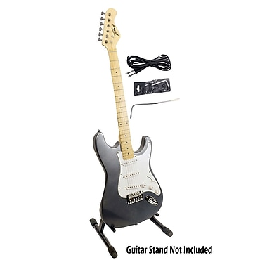 Pyle® 6 String Professional Full Size Electric Guitar With Satin Slate Metallic Finish