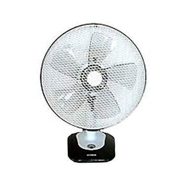 Optimus F-1212 12in. Oscillating Table Fan With Soft Touch Switch and LED