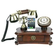 Pyle® PRT35I Authentic Classical Themed Home Telephone System W/Integrated Speaker, Wood