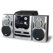 Jensen® JMC-1100 3 Speed Stereo Turntable With 3 CD Changer and Dual Cassette Deck