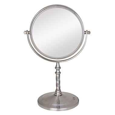 Zadro™ 11 1/2in. x 7in. x 4 3/4in. 5X/1X Satin Nickel Swivel Vanity Mirror
