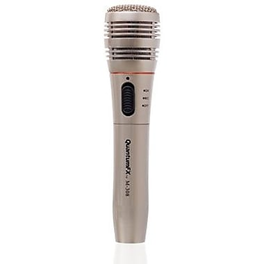 QFX M-308 Wireless Handheld Microphone, Silver
