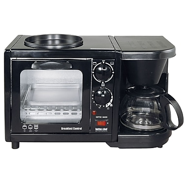 Better Chef® Breakfast Central 3-in-1 Meal Maker, Black