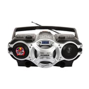 Supersonic® SC-1395 Dynamic High Performance Portable AM/FM /SW 1-2 Audio Player, Silver