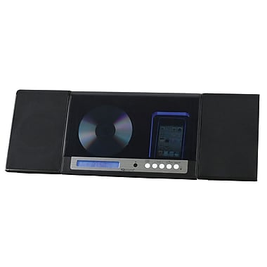 Supersonic® IQ-2015 Micro Stereo CD System With Dock and AM/FM Radio For iPod /iPhone, Black