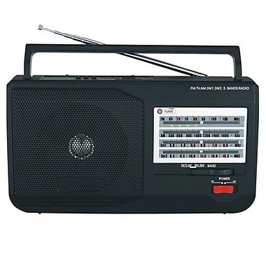 Supersonic® SC-1086 5 Band AM/FM/SW1/SW2/TV Radio