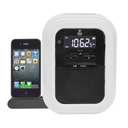 Pyle® PICL36B Clock Radio For iPod/iPhone/Docking Station, White/Black