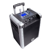 Pyle® PCMX265B Black Portable PA System With Rechargeable Battery, 400 W