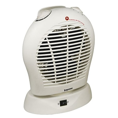 Impress IM-730 Oscillating Fan Heater With Thermostat, White