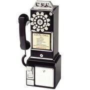 Us Basic 1950 Retro Classic Pay Phone Telephone, Copper