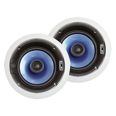 Pyle® PIC6E 250 W 6 1/2in. Two-Way In-Ceiling Speaker System W/Adjustable Treble Control