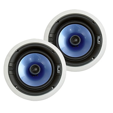 Pyle® PIC8E 300 W High End 8in. Two Way In Ceiling Speaker System W/Adjustable Treble Control