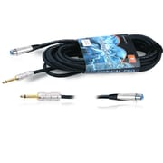 Technical Pro CQX-Series 15' 16 Gauge 1/4 to XLR Male Audio Cable, Black
