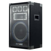 Technical Pro VRTX 1000 W 12 Five Way Carpeted Cabinet Speaker With Steel Grill, Black
