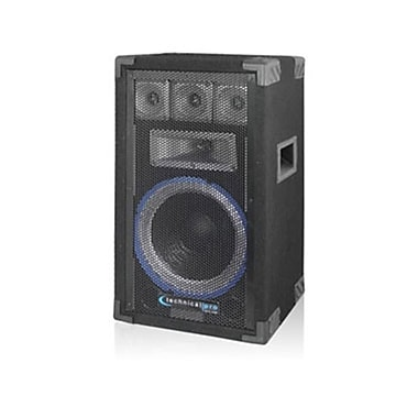 Technical Pro VRTX 800 W 10in. Five Way Carpeted Cabinet Speaker With Steel Grill, Black
