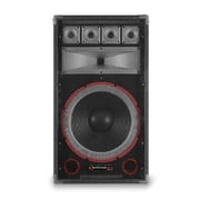 Technical Pro VMPR 1500 W 15 Eight Way Carpeted Cabinet Speaker With Steel Grill, Black