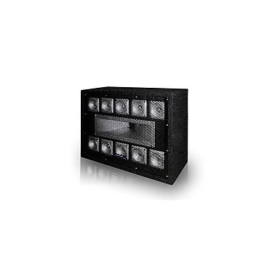 Technical Pro TW110 500 W Professional Carpeted 11-Way Tweeter Box, Black