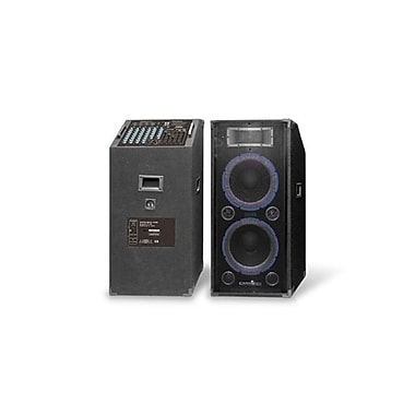 Technical Pro STAGE212XU 3000 W Powered Speaker Set & Mixer System, Black