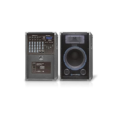 Technical Pro STAGE12XU 2000 W Powered Speaker Set & Mixer System, Black