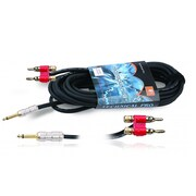 "Technical Pro CQB-Series 50' 12 Gauge 1/4"" to Banana Plug Speaker Cable, Black"