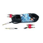 Technical Pro CQB-Series 100' 16 Gauge 1/4 to Banana Plug Speaker Cable, Black