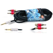 Technical Pro CQB-Series 50' 16 Gauge 1/4 to Banana Plug Speaker Cable, Black