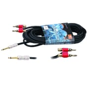 Technical Pro CQQ-Series 100' 12 Gauge 1/4 to 1/4 Speaker Cable, Black
