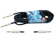 Technical Pro CQQ-Series 25' 12 Gauge 1/4 to 1/4 Speaker Cable, Black