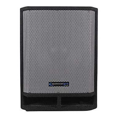 Technical Pro THUMP15 1300 W Carpeted 15in. Passive Subwoofer With Built In Crossover, Black