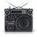 Technical Pro BOOMBOX9 Portable 4 Battery Powered Stereo Boombox With USB / SD Card Inputs, Black