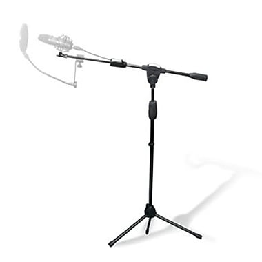Technical Pro MKST3 Tripod Microphone Stand With Clasp Adjuster, Black