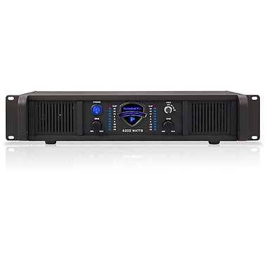 Technical Pro LZ6200 2U 6200 W Professional 2CH Power Amplifier, Black
