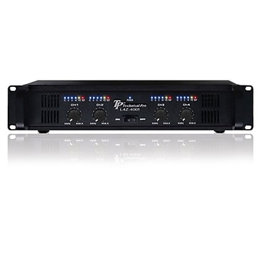 Technical Pro L4Z4001 4000 W Professional 4CH Power Amplifier, Black