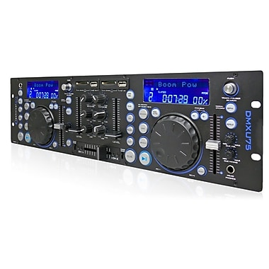 Technical Pro DMXU75 Professional Double USB/SD Player and Mixer, Black