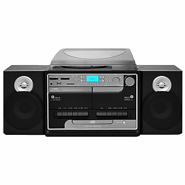 Pyle® PTTCSM60 Turntable Boombox Multimedia System, 33 1/3/45/78 RPM