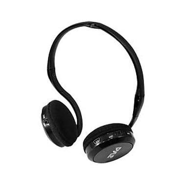 Pyle® Wireless Headphones With Base Station/USB Transmitter For PC/Mac, Black