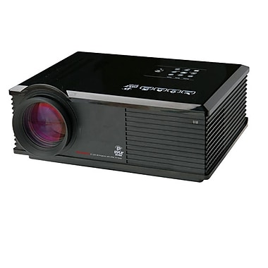 Pyle® PRJ3D99TU 120in. Viewing Screen HD LED Widescreen Projector With Built-in Speakers, Black