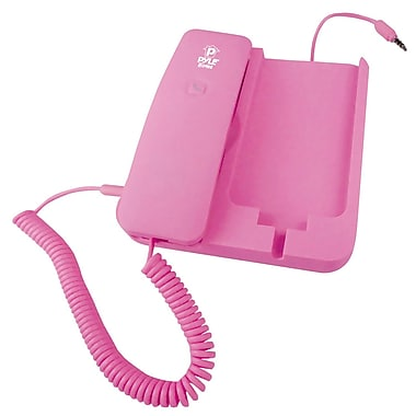 Pyle® Handheld Phone and Desktop Dock For iPhone, Pink