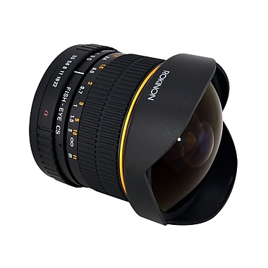 Rokinon® HD8M 8 mm f/22 - f/3.5 HD Fisheye Lens With Removable Hood For Sony Alpha