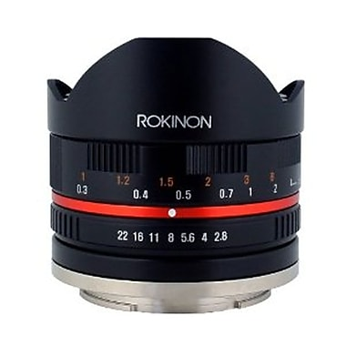 Rokinon® 28FE8 8 mm f/22 - f/2.8 UMC Ultra Wide Angle Fisheye Lens for Sony E-Mount, Black