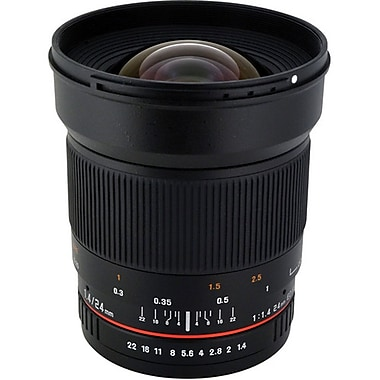 Rokinon® RK24M 24mm F/22 - F/1.4 Asherical Wide Angle Lens For Pentax DSLR