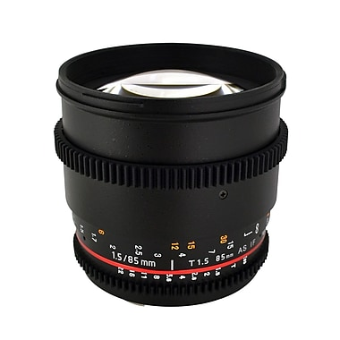 Rokinon® CV85M 85 mm T/22 - T1.5 Cine Aspherical Lens For Nikon DSLR