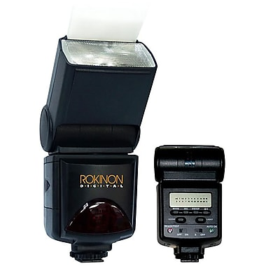 Rokinon® D980AFZ E-TTL PowerZoom Bounce Swivel Camera Flash For Canon EOS 50D/Xsi/T1i DSLR Cameras