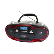 Supersonic® SC-745 Portable MP3/CD Player With USB/Aux Inputs/Cassette Recorder and AM/FM Radio, Red