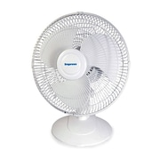 "Impress IM-712 12"" Oscillating Table Fan, White"