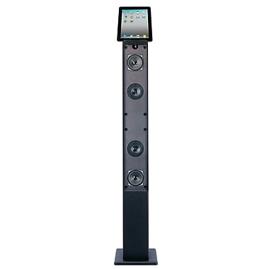 Craig® CHT917 2.1 Channel Tower Speaker System With Digital FM Radio, Black