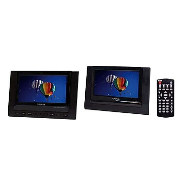Craig® CTFT719 7in. TFT Dual Screen Portable DVD Player, Black