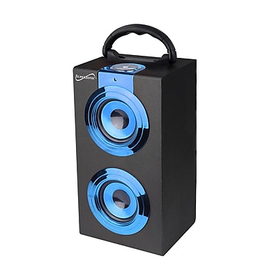 Supersonic® SC-1314BT Portable Speaker W/Bluetooth and Rechargeable Battery, Blue