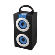 Supersonic® SC-1313BT Portable Bluetooth Rechargeable Speaker With USB/SD/Aux W/FM Radio, Blue