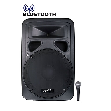 Supersonic® SC-315DJB 1600 W 15in. Professional 2-Way PA/DJ Loudspeaker System With Bluetooth
